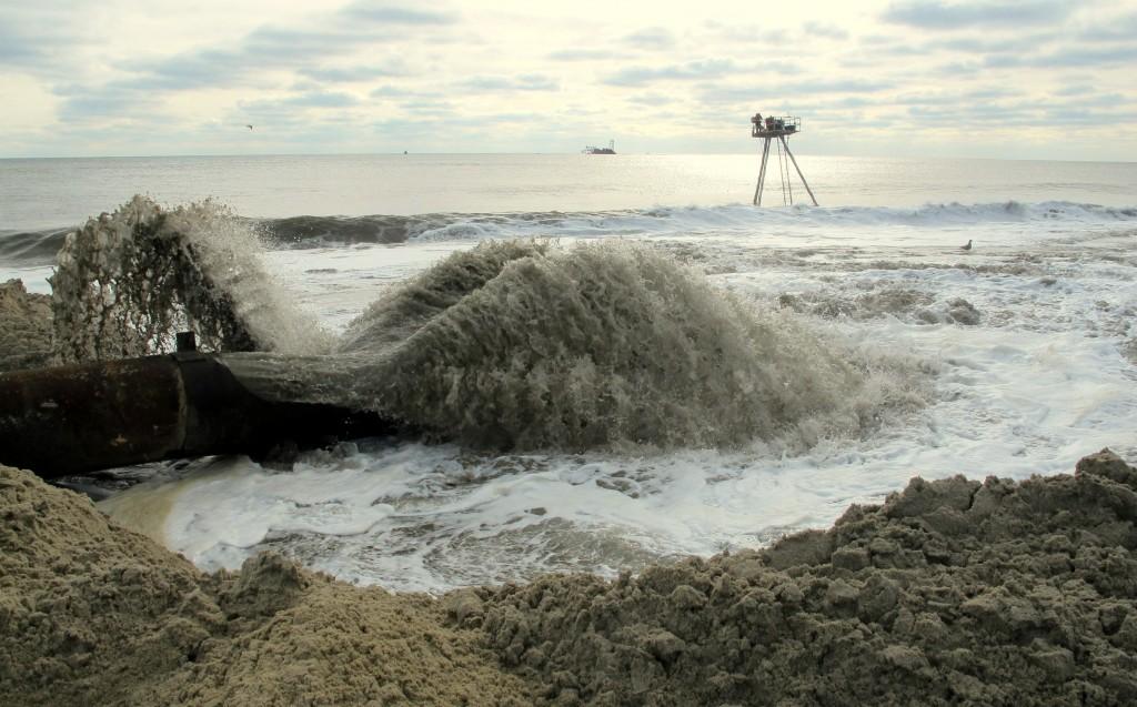 coastal science engineering long island largest nourishment project