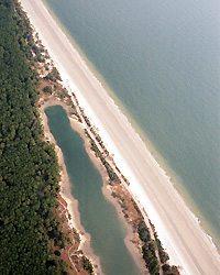 Hunting Island before nourishment, Feb 2006