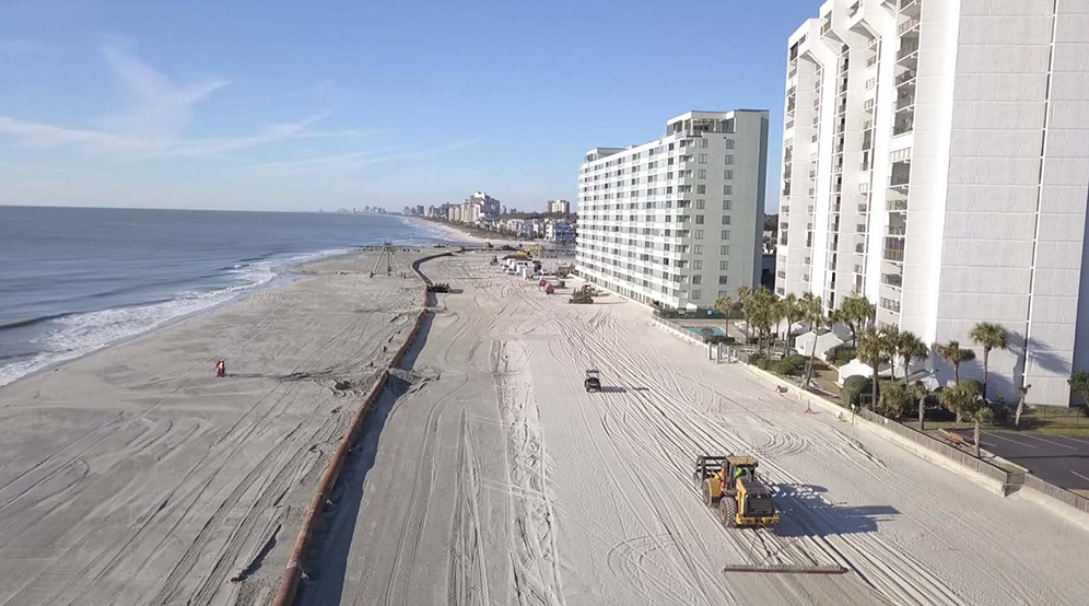 Arcadian Shores Beach Renourishment Project Nears Completion