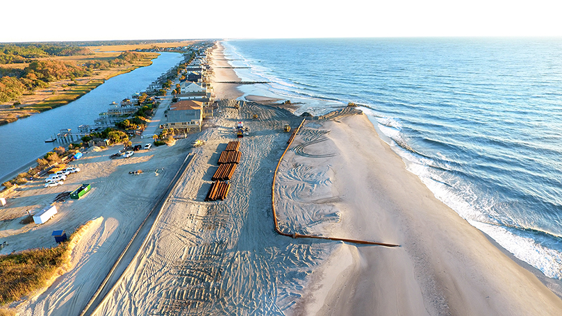 Pawleys Island Beach Renourishment Project Begins
